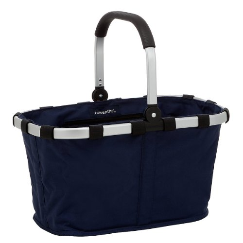 Carry Bag - Reisenthel Germany Collapsible Bag or Market Basket, Navy Blue (Basket Collapsible Reisenthel)