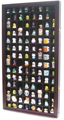 Thimble Display Cabinet with glass door -Mahogany: Amazon.co.uk ...