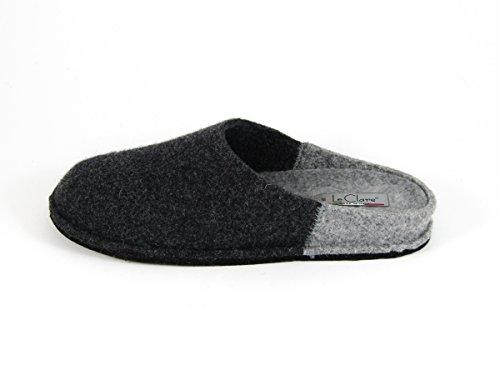 Pantofole da Donna Invernali Bicolore Antracite