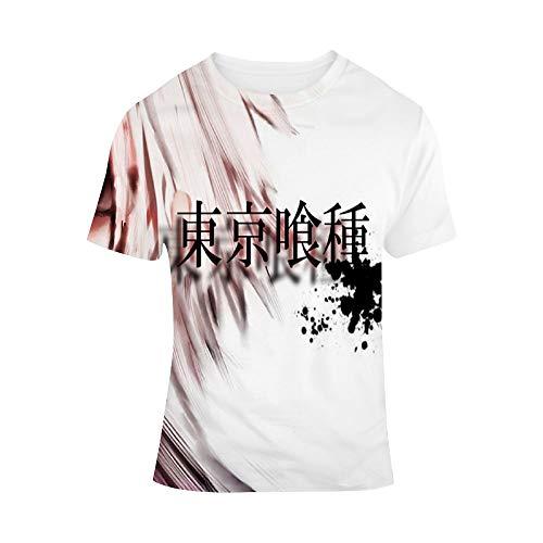 ICOSSABER T-Shirt Animation Tokyo Ghoul Kaneki Ken E,Classic Animation,Adult Unisex Crew - Ken 67