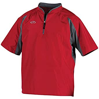 Rawlings Sporting Goods Rawlings Youth Limited Edition 1/4 Zip Cage Jacket Large Scarlet (Red)