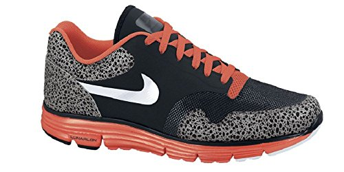 Nike Fuse Safari - Nike Lunar Safari Fuse+ Hyperfuse Sneaker black/gray/red, EU Shoe Size:EUR 47.5, Color:black