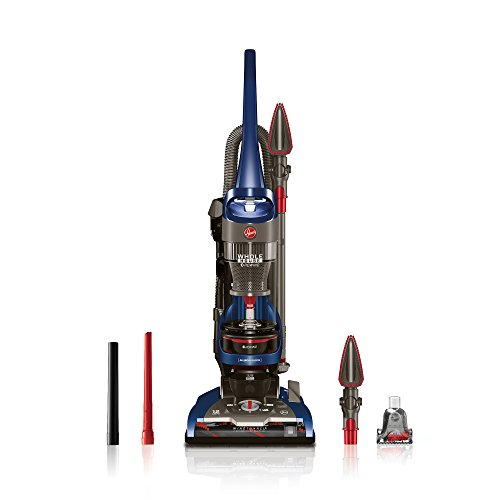 Hoover WindTunnel 2 Whole House Rewind Corded Bagless Upright Vacuum Cleaner with HEPA Filter, UH71250, Blue
