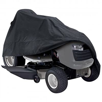 "Classic Accessories 73967 Deluxe Riding Lawn Mower Cover, Black, Up to 54"" Decks"