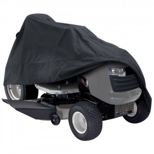 Classic Accessories 73967 Deluxe Riding Lawn Mower Cover, Black, Up to 54