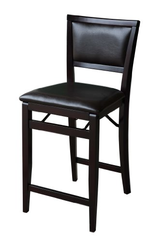 Linon Home Decor Keira Pad Back Folding Counter Stool, 24-Inch