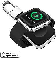 BECROWMEU - Cargador magnético Portátil inalámbrico para Apple Watch, Cargador de Bolsillo, Llavero con Batería incorporada para iWatch, Compatible ...