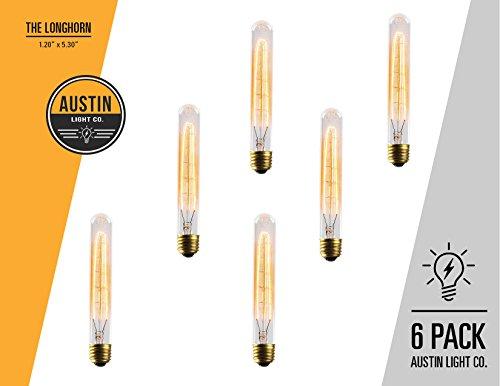 Edison light bulb - 6 Pack - The Longhorn - 40 Watt Bulb -