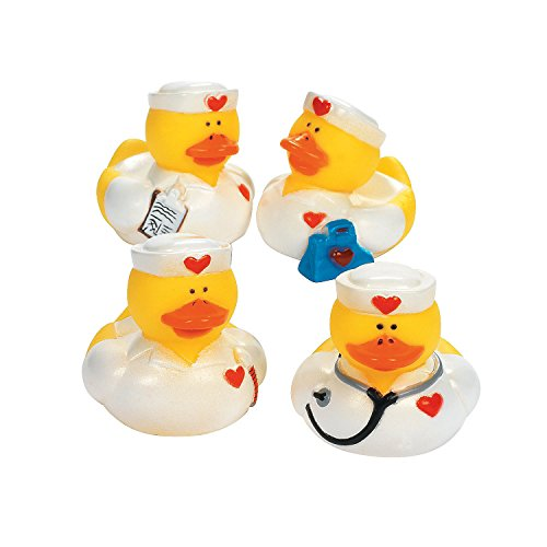 - Fun Express - Nurse Rubber Duckies - Toys - Character Toys - Rubber Duckies - 12 Pieces