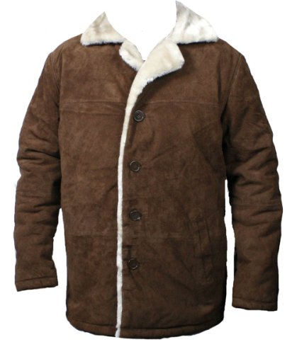 mens-soft-suede-marlboro-style-buttons-closure-faux-fur-bonded-jacket-brown-l