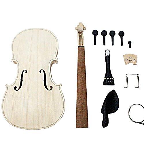 Shsyue Make Your Own Full Size 4/4 Violin DIY Kit for Music Lover and Beginner