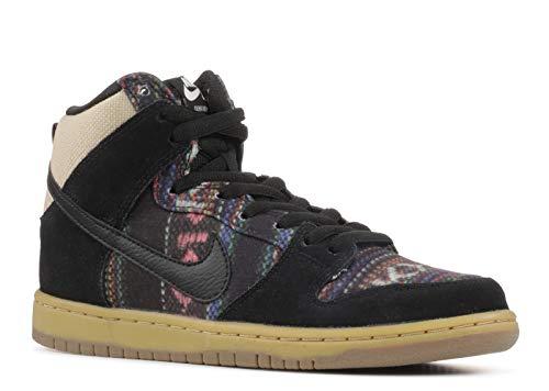 Nike Men's Dunk High Premium SB, MULTI-COLOR/BLACK/GYM LIGHT BROWN, 9 M US