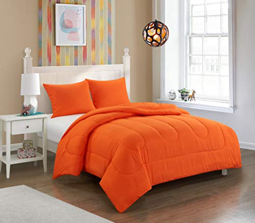 Pop Shop University Comforter Set, Full, Orange ()