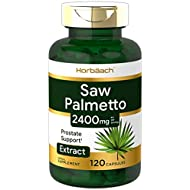 Saw Palmetto Extract | 2400mg | 120 Capsules | Prostate Supplement for Men | Non-GMO, Gluten Free | from Saw Palmetto Berries | by Horbaach