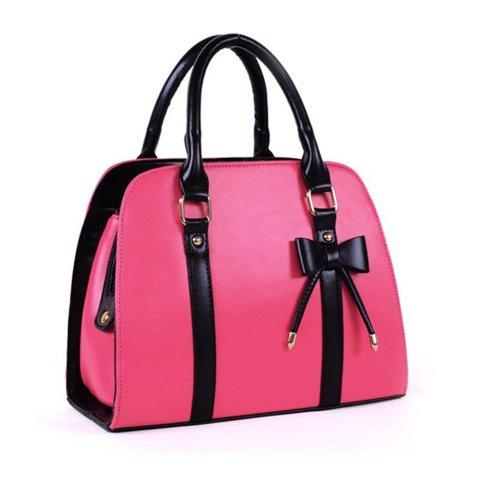 Ladies Handbag Red Rose Bag Bowknot Color Candy Finejo Shoulder dSqYdx