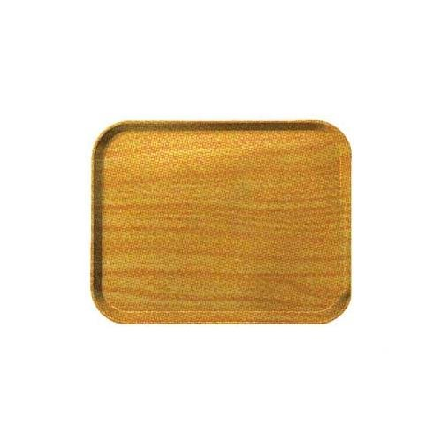Woodgrain Fiberglass Tray - Carlisle 2216WFG063 Fiberglass Glasteel Wood Grain Rectangular Tray, 22.12
