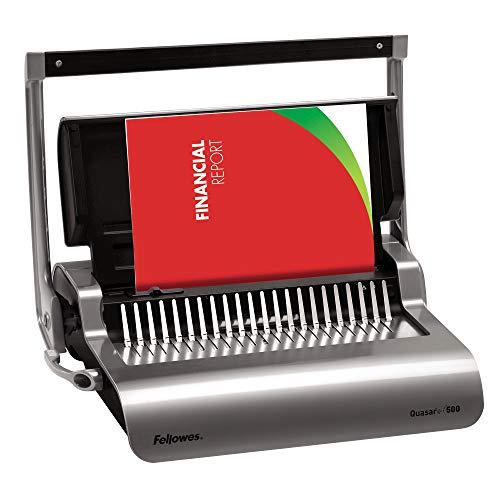 Fellowes Quasar+ 500 - Encuadernadora manual de canutillo de plástico, uso continuo
