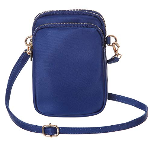 HAIDEXI Nylon Small Crossbody Bags Cell Phone Purse Smartphone Wallet For Women (A-BLUE)