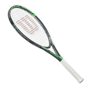 Wilson Tour Slam Strung Tennis Racquet, 4 3/8-Inch, Black/Green