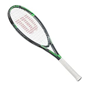 Wilson Tour Slam Strung Tennis Racquet, 4 1/2-Inch, Black/Green