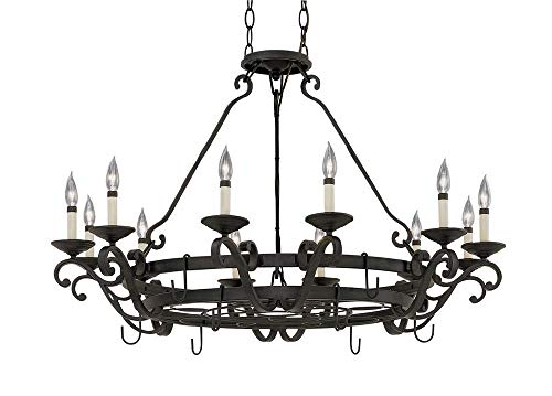 Designers Fountain 9031-NI Messina Chandeliers, Natural Iron