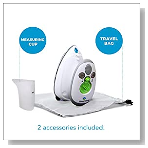Vornado Mini Travel Steam Iron with Dual Voltage, 1-Pack, White