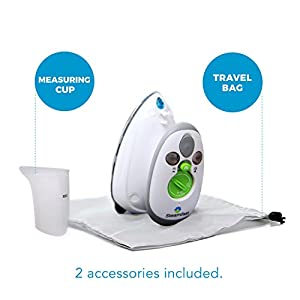 Steamfast SF-717 Mini Steam Iron with Dual Voltage, Travel Bag, Non-Stick Soleplate, Anti-Slip Handle, Rapid Heating…
