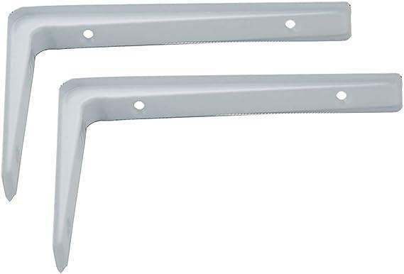 Multifuncional Soporte estanteria almacenaje /ángulo recto en forma de L SUPPORT escuadras para estanterias soporte metalicas estante de microondas Estanter/ía Equipada con tornillos largos y cortos