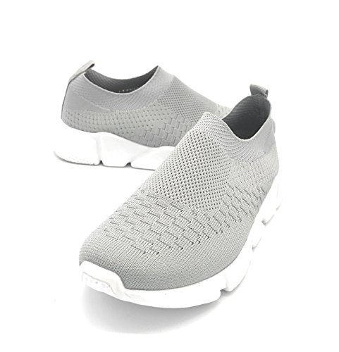 Blue Berry EASY21 Lady Breathable Fashion Slip-On Athletic Sports Shoes,Grey 7