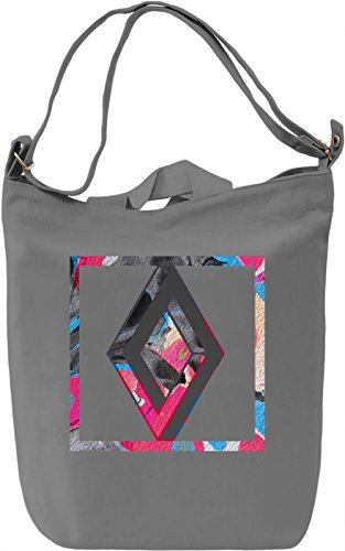 Colourful Rhombus Borsa Giornaliera Canvas Canvas Day Bag| 100% Premium Cotton Canvas| DTG Printing|