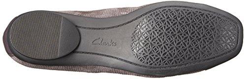 Clarks Candra Glow Ballet Flat Purple/Grey Suede