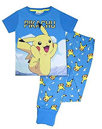 vanilla underground Pokemon Pikachu Kid's Long Pyjamas (3-4 Years) Blue