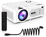3500 Lumens Mini Projector (Upgraded Version) LED Portable Projector with Tripod, Video Projector with 170'' Display and 1080P Support, Compatible with Fire TV Stick, PS4, HDMI, VGA, TF, AV and USB
