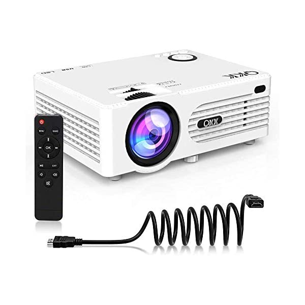 "3500 Lumens Mini Projector (Upgraded Version) LED Portable Projector with Tripod, Video Projector with 170"" Display and 1080P Support, Compatible with Fire TV Stick, PS4, HDMI, VGA, TF, AV and USB"