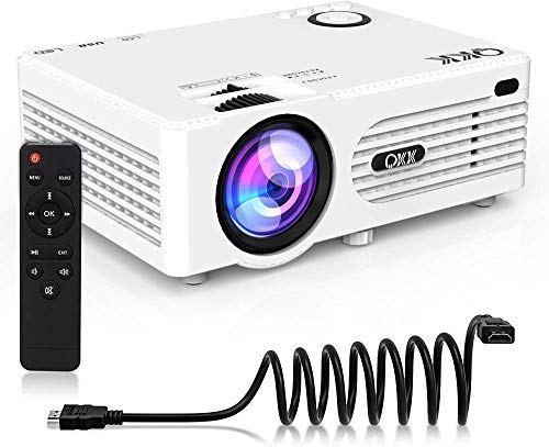 """3500 Lumens Mini Projector (Upgraded Version) LED Portable Projector with Tripod, Video Projector with 170"""" Display and 1080P Support, Compatible with Fire TV Stick, PS4, HDMI, VGA, TF, AV and USB"""