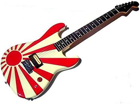 Pegatinas vinilo sol naciente rising sun rojo para guitarra y bajo ...