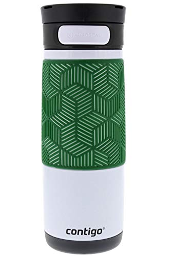 Autoseal Stainless Steel Transit Travel Mug with Grip, 16oz- Hunter - Perfect on the Road, in the Office or at Home