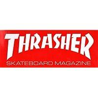 Thrasher Magazine Autocollant avec logo du magazine pour skateboard rouge 15cm de large