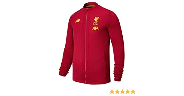New Balance Liverpool Red Pre Game Jacket 2019/20-Small: Amazon.es ...