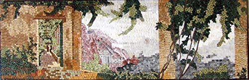 (Mosaic Design Italian View Landscape- Marina | Mosaic Designs | Mosaic Artwork | Mosaic Wall Art by Mozaico | Handmade Mosaics | 47