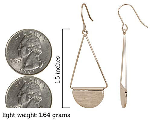 Shield Earring (Small Gold)