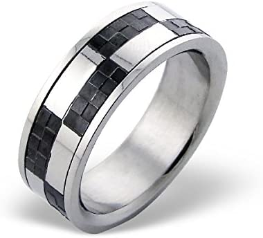 Two Tone Rings 316L Surgical Grade Stainless Steel Polished Nickel Free Liara