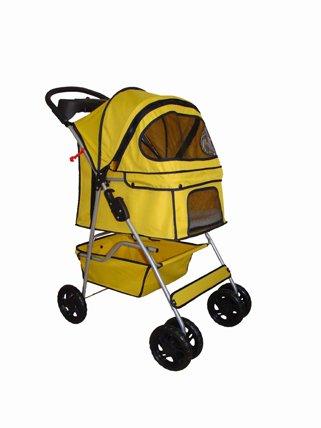 3 Wheel Pink Pet Stroller - 6