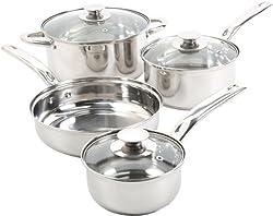 Sunbeam Ansonville 7-piece Cookware Set, Silver