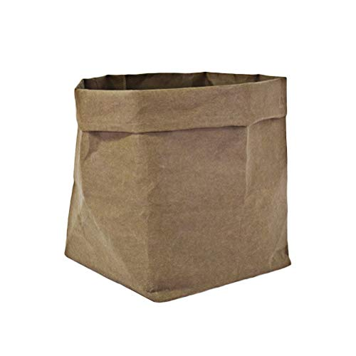 - VORCOOL Washable Kraft Paper Container Reusable Paper Bag Organizer Flowerpot Planter Bags Cover for Decoration and Storage