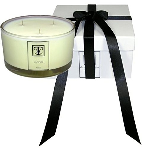 Candle TCC Tuberose Scented 3 Wick Glass Bowl 80 Hour