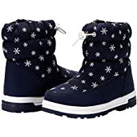 VAMV Boys & Girls Snow Boots Fur Lined Non Slip Kids Winter Outdoor Waterproof Shoes