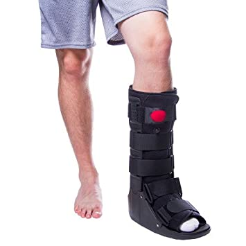 BraceAbility Tall Air Cam Walker Boot for Broken or Sprained Ankle,  Fractures, or Achilles Surgery