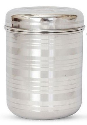 e Global Stainless Steel Container   1000 ml, Silver