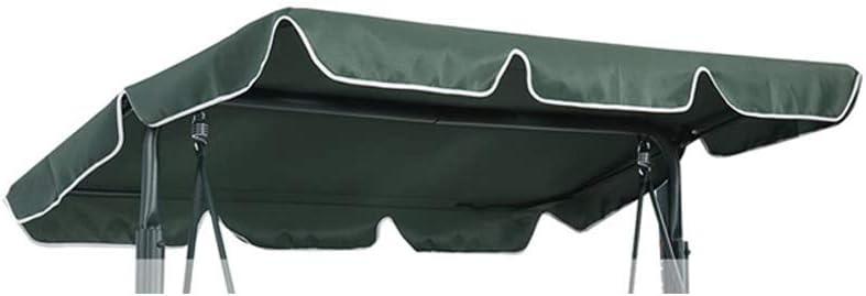 impermeable Toldo para columpio al aire libre toldo de repuesto para 2 3 o 4 plazas color beige 142 x 120 x 18 cm cubierta para asiento de columpio de jard/ín